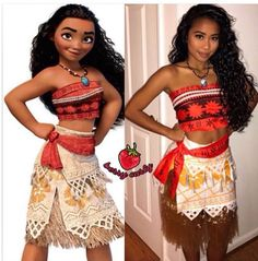 Moana costume - Dress Up - Halloween Moana Halloween Costume, Couple Halloween Costumes, Cute Halloween, Halloween Outfits, Cool Costumes, Costumes For Women, Cosplay Costumes, Moana Costumes, Moana Costume Diy