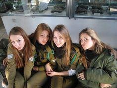 Hot Israeli Female Tank Instructors of School of Infantry Professions-I . Hot Female Tank Instructors of Israel Defense Forces-II Female S.