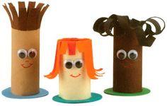 Tuvalet kağıdı rulosundan oyuncaklar toy made of toilet roll