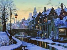 Красивый зимний город), оригинал