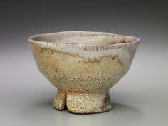 Randy Johnston Tea Bowl, Anagama Natural Ash Glaze with Shino Slip Stoneware