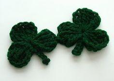 Crochet Shamrock C - Clover