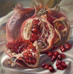 pomegranates II by StudioDaf on Etsy
