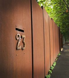 House Numbers --- by PLR Design, Melbourne