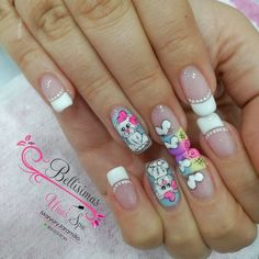 Uñas bonitas Cute Acrylic Nails, Fun Nails, Pretty Nails, Pretty Nail Designs, Nail Art Designs, Crazy Nails, Paws And Claws, Beautiful Nail Art, Nail Arts