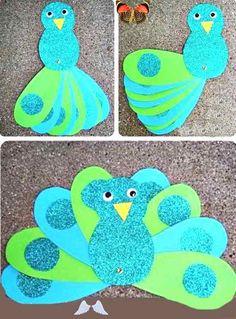 Renkli Kağıtlardan Tavuskuşu Yapımı | OkulöncesiTR-Preschool Renkli Kağıtlardan Tavuskuşu Yapımı | OkulöncesiTR-Preschool<br> Renkli kağıtlardan tavus kuşu nasıl yapılır kağıt işleri etkinlikleri, çalışması ve örnekleri tekniği yapımı, yapmak bu anasınıfı okul öncesi öğretmenleri sitesinde yapılışı yer alıyor. Easter Crafts For Toddlers, Toddler Crafts, Preschool Crafts, Diy For Kids, Kids Crafts, Tips And Tricks, Peacock Crafts, Back To School Crafts, Diy Ostern