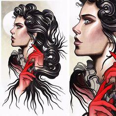 Risultati immagini per neo traditional woman