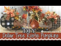 Hello there my friends! In this video I am sharing how I created these rustic pumpkins to add to my fall decor. Hello there my friends! In this video I am sharing how I created these rustic pumpkins to add to my fall decor. Dollar Tree Pumpkins, Dollar Tree Fall, Dollar Tree Decor, Dollar Tree Crafts, Fall Crafts, Decor Crafts, Holiday Crafts, Fall Pumpkins, Fall Halloween