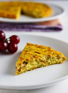 Zucchini Frittata ••• Ingredients: shallots, extra firm tofu ...