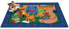 "Reading Buddies Rug Rectangle 8'4"" x 11'8""   CFK8812   Carpets for Kids"