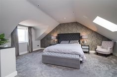 Setting up a small room is sometimes a puzzle! Do not panic, we give you some tips for a small bedroom with… Continue Reading → Dormer Bedroom, Attic Master Bedroom, Attic Bedroom Designs, Attic Bedrooms, Bedroom Loft, Bedroom Styles, Garage Bedroom, Bungalow Bedroom, Farm Bedroom