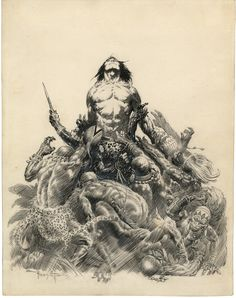 Chances are you've admired the bold, dramatic paintings of Frank Frazetta. But you haven't seen the best of his art. A huge collection of his sketches, drawings and watercolor paintings is going up for sale—and you could gain a new appreciation for the master. Warning: NSFW images below!