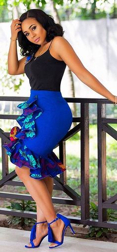 15 Latest Ankara Skirt Styles You Should Check Out You can not argue with fashionistas when they say Ankara styles will only get better and more creative, the trendy Ankara skirt styles listed in this post Latest African Fashion Dresses, African Dresses For Women, African Print Fashion, African Attire, African Women Fashion, Latest Ankara Styles, Latest Fashion, Ankara Rock, Ankara Skirt