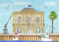 The Customs House, South Shields.  Prints, mugs, cards and magnets available
