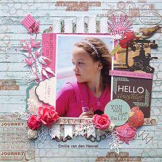 Kaisercraft - Telegraph Road - Emilia van den Heuvel: Hello Sunshine {Merly Impressions & Kaisercraft met uitleg}