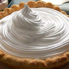 Lemon Custard Pie, Custard Recipes, Lemon Recipes, Pie Recipes, Sweet Recipes, Baking Recipes, Dessert Recipes, Custard Filling, Custard Pies