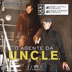 Só faltam 16 dias, para a chegada dos nossos espiões #HenryCavil e #ArmieHammerl ao Brasil.#oagentedauncle
