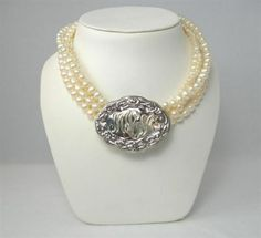 this is stunning ~ Hand Engraved Monogrammed Sterling Silver Whiskey Label Pendant on Pearls