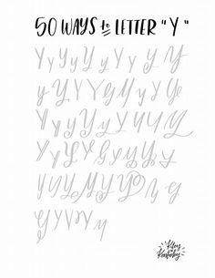 Y Brush lettering