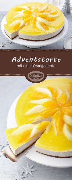Adventstorte: Eine cremige Torte ohne Backen mit einer Orangennote für die Weihnachtszeit