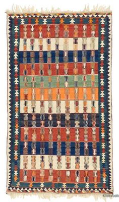 Attractive vintage tribal kilim rug hand-woven in and in very good condition. Discount Area Rugs, Rug Texture, Berber, Area Rugs For Sale, Entryway Rug, Turkish Kilim Rugs, Small Rugs, Rug Making, Rugs On Carpet