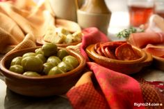 Try Spanish tapas with red wine    #flights24 #Spain #food