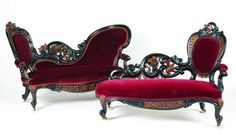 I found 'Red Velvet Gothic Royal Throne' on Wish, check it out!