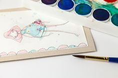Learn to make these lovely stitched girl greeting cards with Guest Artist Cynthia Shaffer, combining free-motion stitching, fabric, and watercolor painting.