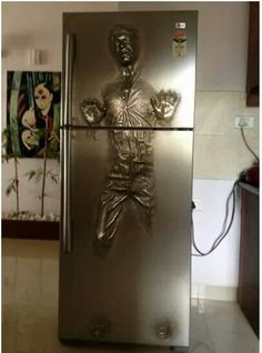 Funny pictures about Han Solo Carbonite fridge. Oh, and cool pics about Han Solo Carbonite fridge. Also, Han Solo Carbonite fridge. Star Wars Meme, Star Trek, Han Solo Fridge, Objet Star Wars, Han Solo Frozen, Take My Money, Deco Design, Cool Stuff, Stuff To Buy