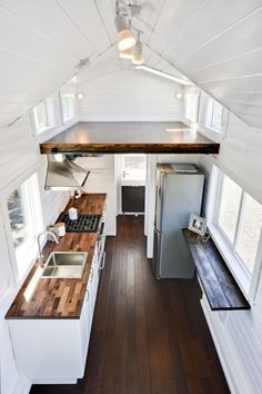Interior View   Just Wahls Tiny House: Smaller Layout, But Open Feel,  Darker Wood, U0026 Sunroof Over The Loft