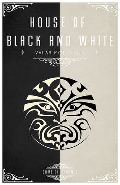 I decided I wanted to create a sigil and motto for the Faceless Men of the House of Black and White. The left door is weirwood, the right ebony. In the center of the doors is a carved moon face ebony on weirwood, weirwood on ebony. Its grey stone steps lead down to the dock.. I opted for the motto 'Valar Morghulis', I think this has to be one of my favourites so far.