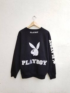 Vintage 90s PLAYBOY Giant Logo Embroidered Bunny Head Spell