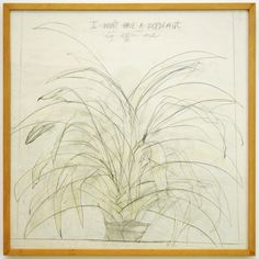 Marlene Dumas - I Won't Have a Potplant- Kleurpotlood en op papier, 1977