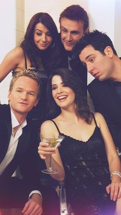 Lily, Marshall, Ted, Robin and Barney ♡♡♡♡ Ted And Robin, Barney And Robin, Ted Mosby, How I Met Your Mother, Robin Scherbatsky, Mejores Series Tv, Yellow Umbrella, Himym, I Meet You
