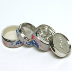 "#2 new Design Beer Pop CAN 2"" ,Super Mini tobacco Herb Grinder,4 Parts, by edge cutter. $7.99. easy to hide, solid quality."