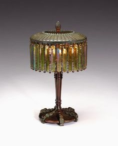 3200: Tiffany Studios Moorish bronze prism lamp, , The