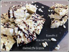 Barrette al cioccolato bianco e riso soffiato