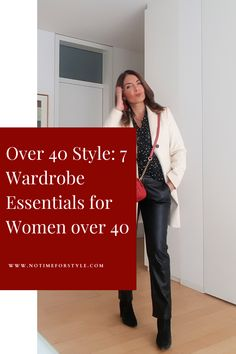 Over 40 fashion: how to dress over 40. How to look expensive for less with these 7 wardrobe key pieces. Best wardrobe basics for women over 40. #over40 #over50 #over60 #fashionover40 #over40fashion #over50fashion #fashion #style #wardrobebasics #capsulewardrobe #minimalistwardrobe #bestinvestmentpieces