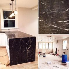 Cue a little TLC and sing along with me now...  don't go chasing waterfalls...and let's take a step back instead and admire this particular gem of a waterfall edge job on the kitchen counter. #homedesign #design #interiordecor #interiordesign #gutrenovation #kitchendesign #granite #newengland by atelier_mv http://discoverdmci.com
