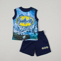 Infant Batman Tank Short Set Blue $6.00