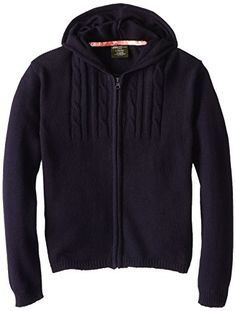 Eddie Bauer Big Girls' Hooded Cable Knit Sweater *** Details can be found at… Disney Sweaters, Navy Sweaters, Girls Sweaters, Cable Knit Sweaters, Grey Shirt, Grey Sweatshirt, Eddie Bauer, Hooded Sweater, Hooded Jacket