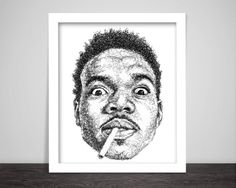 Scribbled Chance The Rapper Hip Hop Poster by ScribbleZone