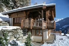 Chalet Gentiane has breathtaking views across the valley from its terrace and balconies