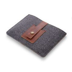 Rustico: Cache Mini Tablet Sleeve, Leather and Wool, Business card pocket, Snap #MarthaStewartAmericanMade