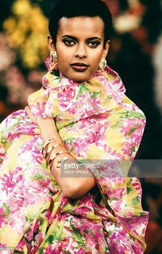 Supermodel Anna Getaneh - YSL Haute couture été 1993.