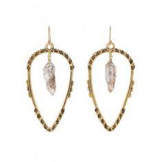 The Vega Diamond & Arrowhead Gold Earrings