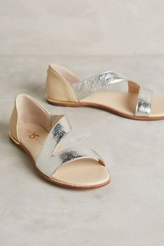 Yosi Samra Casey Metallic Sandals #anthropologie