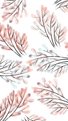 Plants iPhone Wallpaper Design, Watercolour on Behance