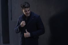 Digital influencer and creative director Mariano Di Vaio wearing Fay Double Coat from Fall - Winter 2015/16 collection. A piece that is both sophisticated and casual, that can be worn for the whole day.