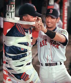 Nomar Garciaparra & Pedro Martinez (by far the man who made me love baseball the way I do. He made me realize no matter how serious life is and how important the game is; that's what it is... It's a game)